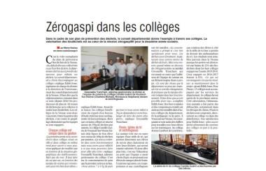 ZeroGaspi dans les collèges de la Vienne
