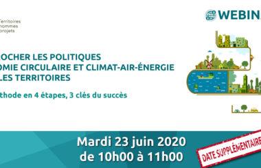 Rapprocher les démarches territoriales Climat-air-Energie et économie circulaire